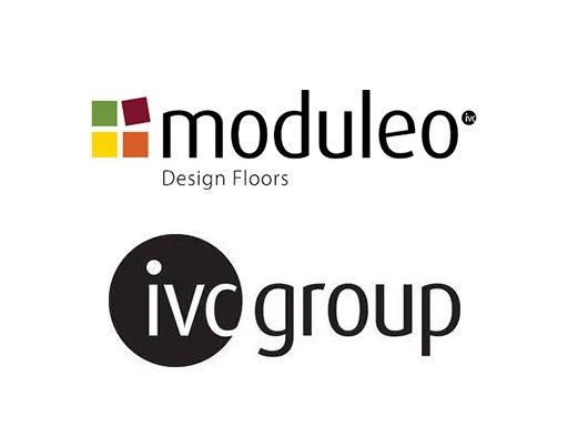 het logo van Moduleo en IVC group