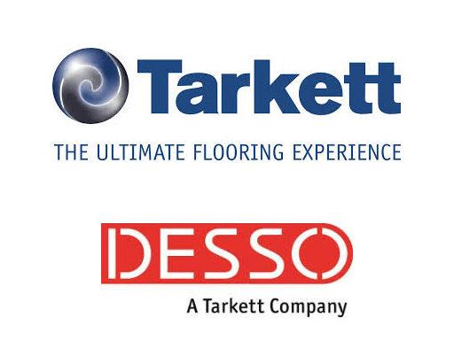 het logo van Tarkett en Desso